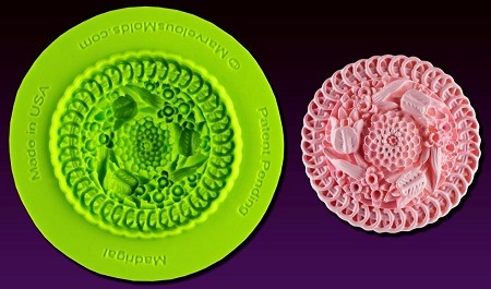 "Madrigal Mold, by Chef Dominic Palazzolo and Marvelous Molds, measures 1 5/8"" x 1 5/8"". This mold is part of the Royal Garden Mold Collection by Marvelous Molds."