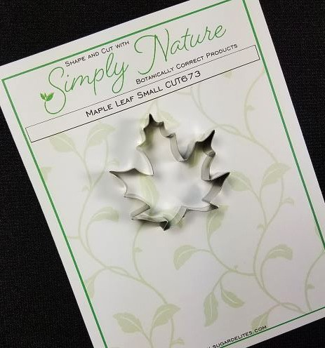 "Maple Leaf Cutter Small by Simply Nature Botanically Correct Products, was designed by Jason Dontz and Jennifer Dontz of Sugar Delites, and creates the most realistic small Maple leaf interpretation possible. The small Maple leaf cutter measures 1 3/4"" x 1 3/4"". This cutter is designed to be paired with the Simply Nature Botanically Correct Maple Leaf Veiner Small (VEI151). When paired together, Simply Nature brand cutters and veiners will create a detailed botanically correct replication of nature."