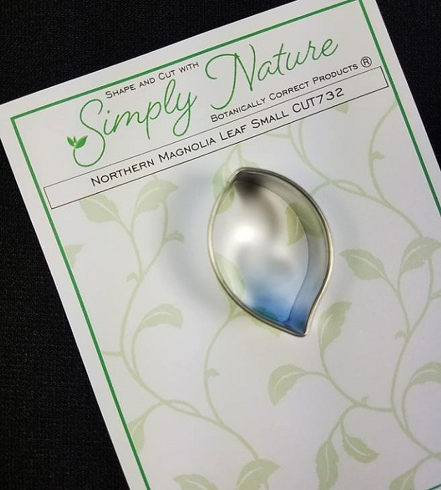 "Northern Magnolia Leaf Cutter Small by Simply Nature Botanically Correct Products®, was designed by Jason Dontz and Jennifer Dontz of Sugar Delites, and creates the most realistic northern magnolia leaf interpretation possible. The small northern magnolia leaf cutter measures 1 5/8"" x 1"". This cutter is designed to be paired with the Simply Nature Botanically Correct Northern Magnolia Leaf Veiner Small (VEI213). When paired together, Simply Nature brand cutters and veiners will create a detailed botanically correct replication of nature."