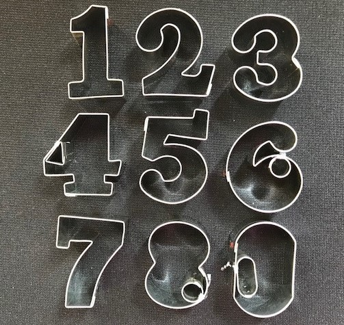 "Numbers measure approx. 1 3/4"" x 1 1/4"""