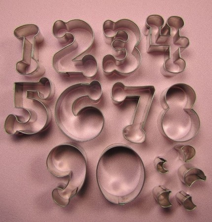 "Numbers Bubble Small 1 1/2"", by Fiesta, can create numbers 0-10 and includes center cut-out pieces as well."