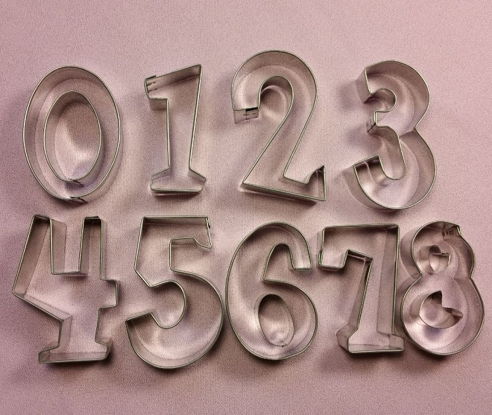 "Numbers Set 2 3/4"", by Fiesta, creates numbers 0-9. Each number measures approximately 2 3/4"" tall."