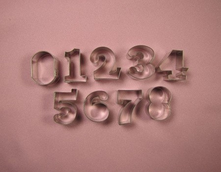 "Numbers Small 1 1/4"", by Fiesta, creates numbers 0-10 with the ""6"" and the ""9"" being interchangeable. Each number measures approximately 1 1/4"" tall."
