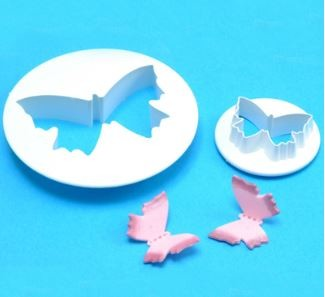 "Butterfly Cutters by PME. The Butterflies measure 2 1/2"" and 1"" in diameter. Instructions included."