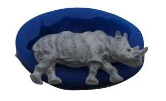 "Rhino, by First Impressions, measures 3 1/4"" x 1 5/8""."