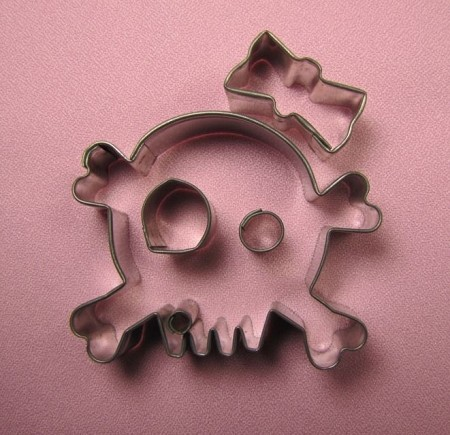 Skull and Cross Bones With Bow
