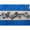 "Snowflake Winter Swirls Crystal Candy Lace Mat measures 12"" x 3 1/4"".  All Lace Mats are best used with Sugar Dress, which is a spreadable lace mix (TOL242). These lace mats create extremely detailed lace designs. Instructions included."