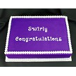 "Flexabet Swirly Congratulations Mold, by Marvelous Molds, creates each letter in a swirly font. Use Marvelous Molds' patented cutting blade technology to flawlessly create swirly letters each measuring approximately 1"" tall."