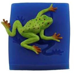 "Tree Frog, by First Impressions, measures 2 1/2"" x 2""."