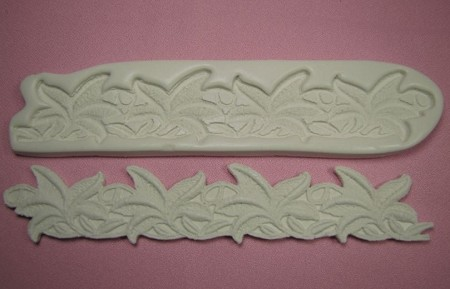 "Tropical Lace Press measures 8 1/2"" x 1 1/2""."