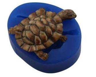 "Turtle/Tortoise mold, by First Impressions, measures 2 1/2"" x 2 1/4""."