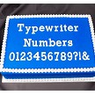 "Flexabet Typewriter Numbers Mold, by Marvelous Molds, creates numbers 0-9 and also &, ?, and !. Use Marvelous Molds' patented cutting blade technology to flawlessly create numbers and punctuation each measuring approximately 7/8"" tall."