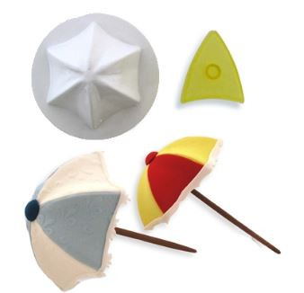 "Umbrella Set by JEM measures 3 3/4"" in diameter. Instructions included."