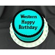"Flexabet Western Happy Birthday Onlay, by Marvelous Molds, uses Marvelous Molds' patented Onlay technology to transfer a perfect happy birthday message to your medium every time. Each letter measures approximately 7/8"" tall.  Mold is approx. 4 1/2"" x 2 3/4"""