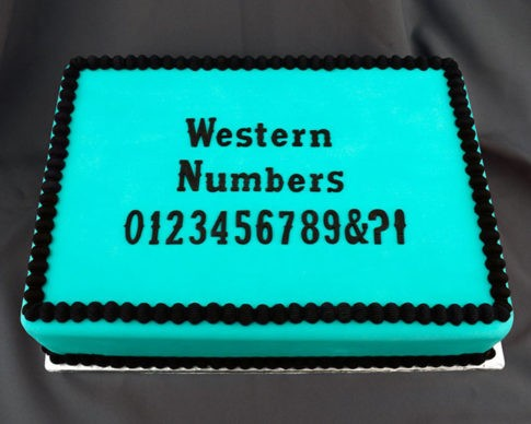 "Flexabet Western Numbers Mold, by Marvelous Molds, creates each number in a Western style font. Use Marvelous Molds' patented cutting blade technology to flawlessly create Western numbers each measuring approximately 1"" tall."